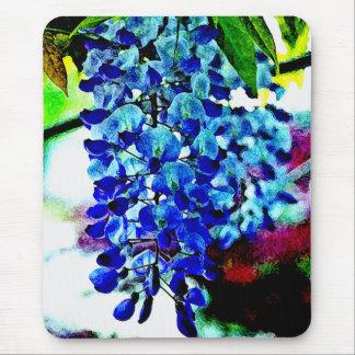 Blue Wisteria Mouse Pad
