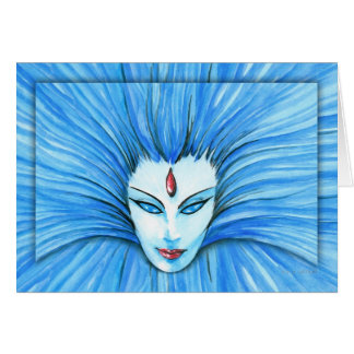 Blue Witch Greeting Cards