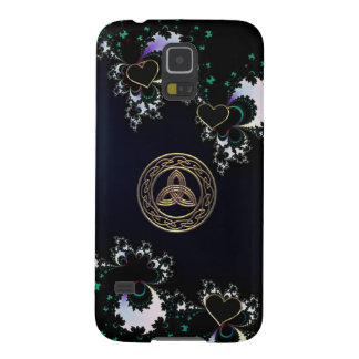 Blue with Black Hearts Celtic Knot Galaxy S5 Case