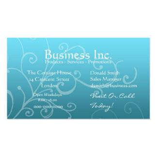 Blue with Decorative Swirl Business Card