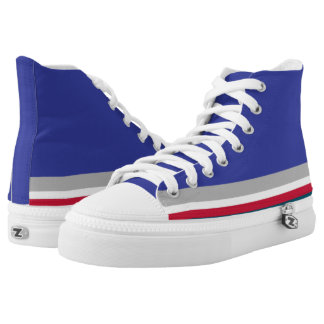 Blue with Gray Red and White Trim Hi-Top