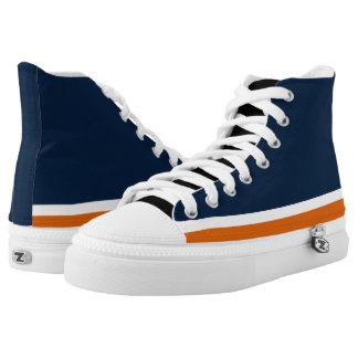 Blue with Orange and White Trim Hi-Top