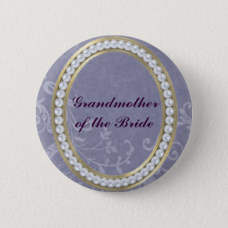 Blue with Pearls Grandmother of the Bride Button