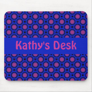 Blue with pink dots Template Mouse Pad