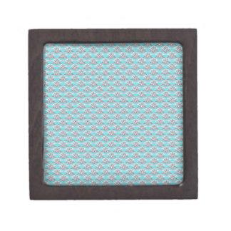 Blue With Platinum Diamond Ring Premium Jewelry Box