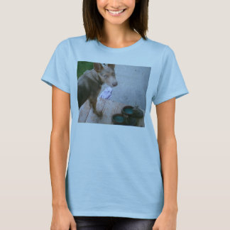 blue with shoes T-Shirt