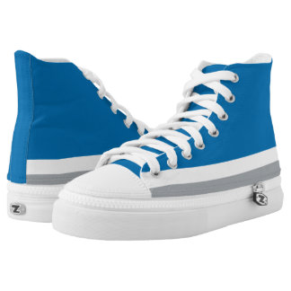 Blue with Silver and White Trim Hi-Top
