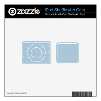 Blue With Simple White Dots Decal For iPod Shuffle 4G