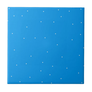 Blue with white dots accessories to customise tiles