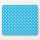 Blue with White Dots Mousepad