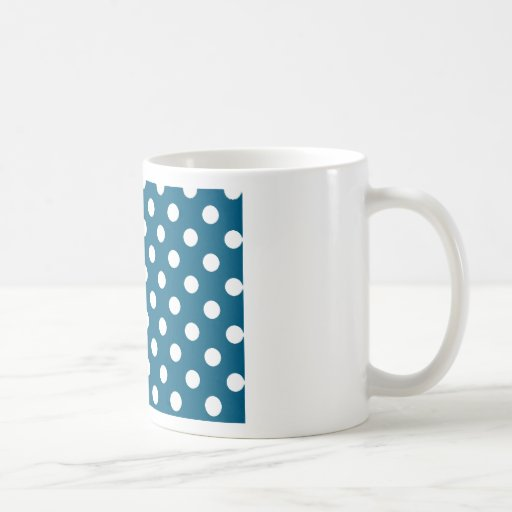 Blue with White Polka Dots Coffee Mug