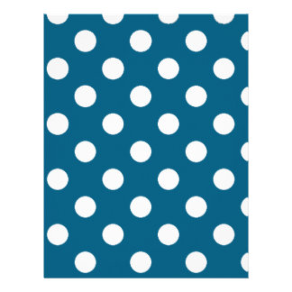 Blue with White Polka Dots Letterhead