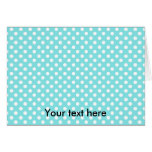 Blue with white polkadots cards