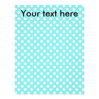 """Blue with white polkadots 8.5"""" x 11"""" flyer"""