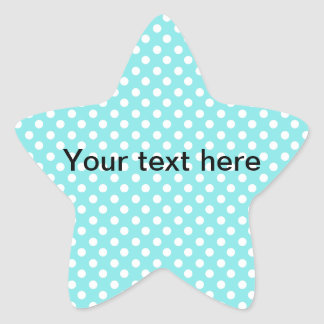 Blue with white polkadots star sticker
