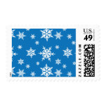 Blue with White Snowflakes Postage Stamps
