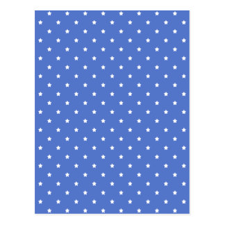 Blue with white stars. Pattern. Postcard