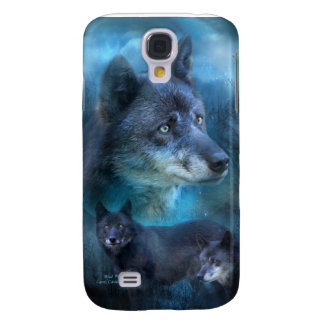 Blue Wolf Art Case for iPhone 3 Galaxy S4 Covers