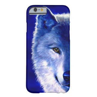 Blue Wolf at Night iPhone 6 Case