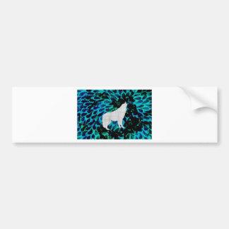 Blue Wolf Bumper Sticker
