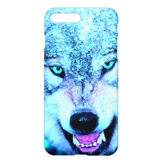 Blue wolf face iPhone 7 plus case