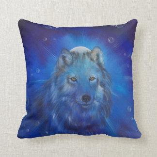 Blue Wolf Pillow