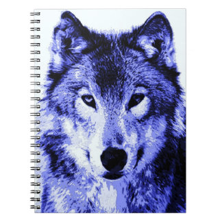 Blue Wolf Portrait Notebook