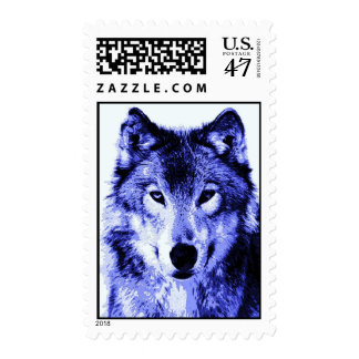 Blue Wolf Portrait Postage Stamps