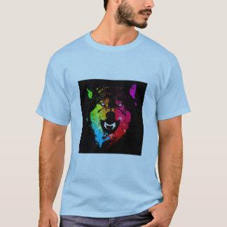 Blue wolf shirt