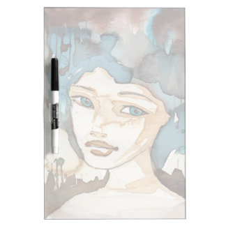 Blue Woman Dry-Erase Board