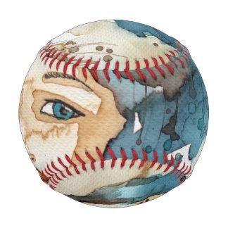 Blue Woman Baseballs