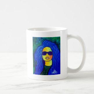 Blue Woman Sunglasses by Piliero Coffee Mug