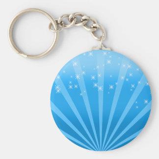 Blue Wonderland Basic Round Button Keychain