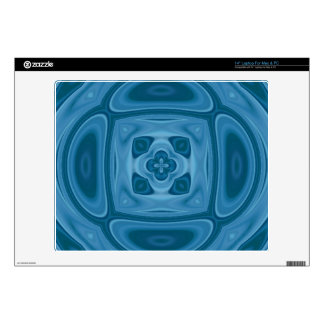 Blue wood abstract pattern laptop skin