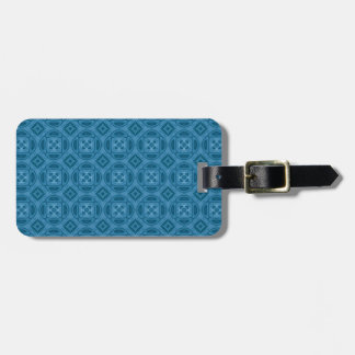 Blue wood abstract pattern bag tags