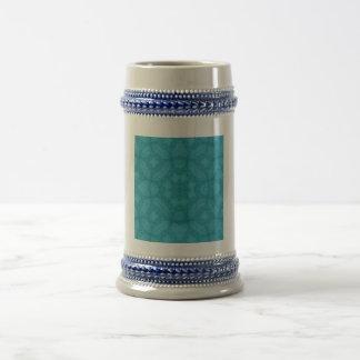 Blue wood abstract pattern mug