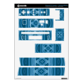Blue wood abstract pattern nintendo wii skin