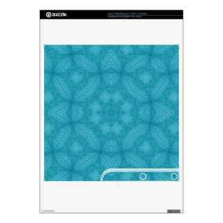 Blue wood abstract pattern PS3 slim decals