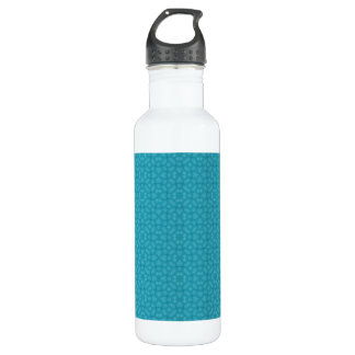 Blue wood abstract pattern stainless steel water bottle