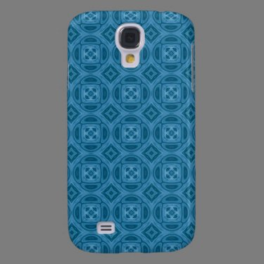 Blue wood abstract pern samsung galaxy s4 cover