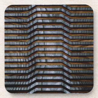 Blue Wood Art Coaster