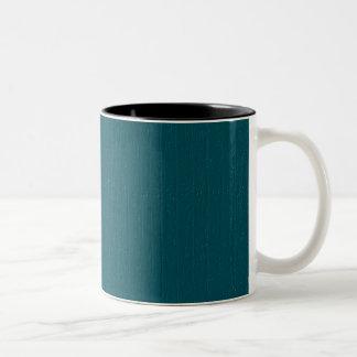 Blue Wood Background Two-Tone Coffee Mug