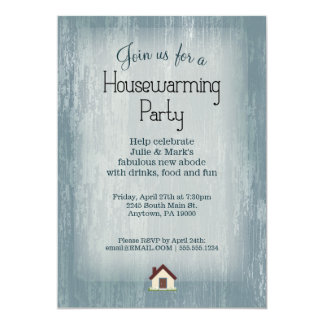 Blue Housewarming Party Invitations Announcements Zazzle