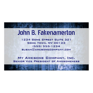 Blue Wood Look Business Card