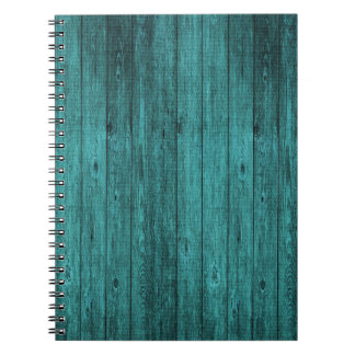 blue wood notebook