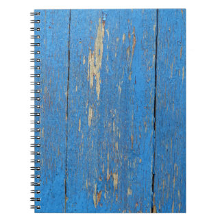 Blue wood notebook