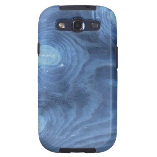 Blue wood pattern galaxy SIII cover