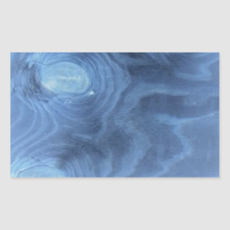 Blue wood pattern rectangle sticker