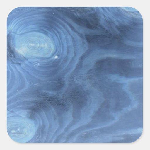 Blue wood pattern stickers