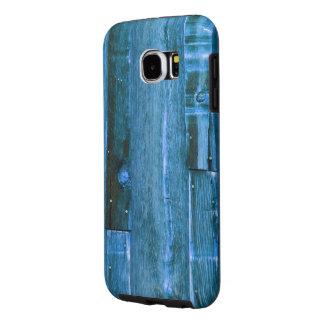Blue Wood Samsung Galaxy S6 Case